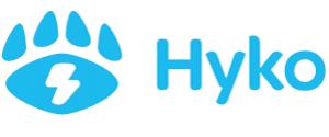 hyko logo blau auf weiß