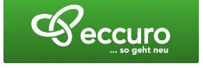 eccuro logo mit weißer schrift auf grünem hintergrund