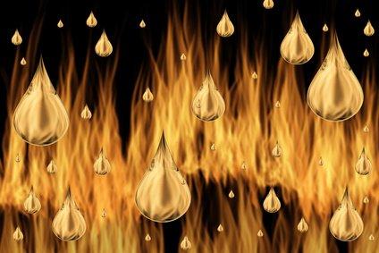 Heizöl beim Verbrennen