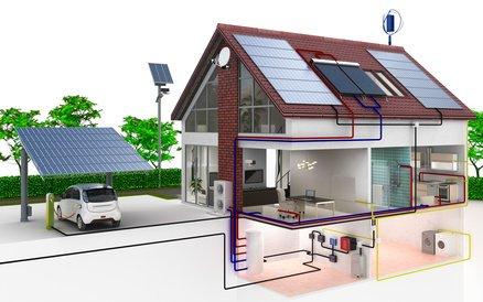 haus mit solar waermepumpe