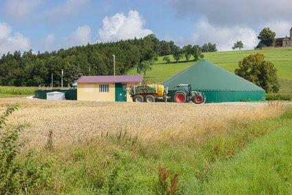 Biogasanlage auf einem Bauernhof