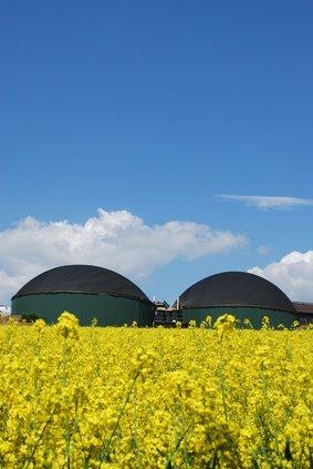 Biogasanlage als Heizung aufm Hof