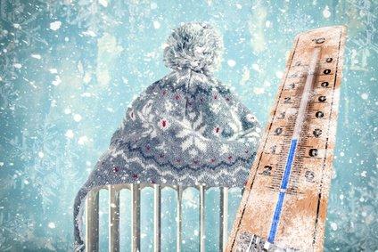 Frostschutz Heizung mit Mütze