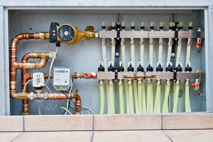 Förderung der Heizungspumpe sichern Pumpe in der Ansicht