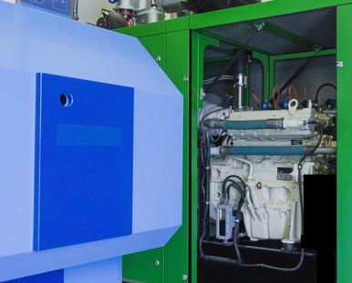 KWK Förderung für Blockheizkraftwerk in Grün