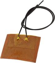 braune Folienheizung mit schwarzem Kabel