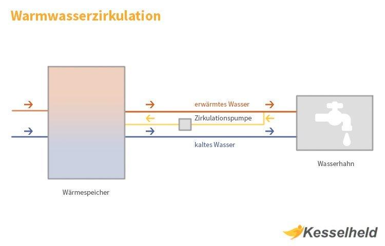 warmwasserzirkulation infografik