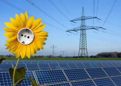 Solarstrom als einer PV Anlage