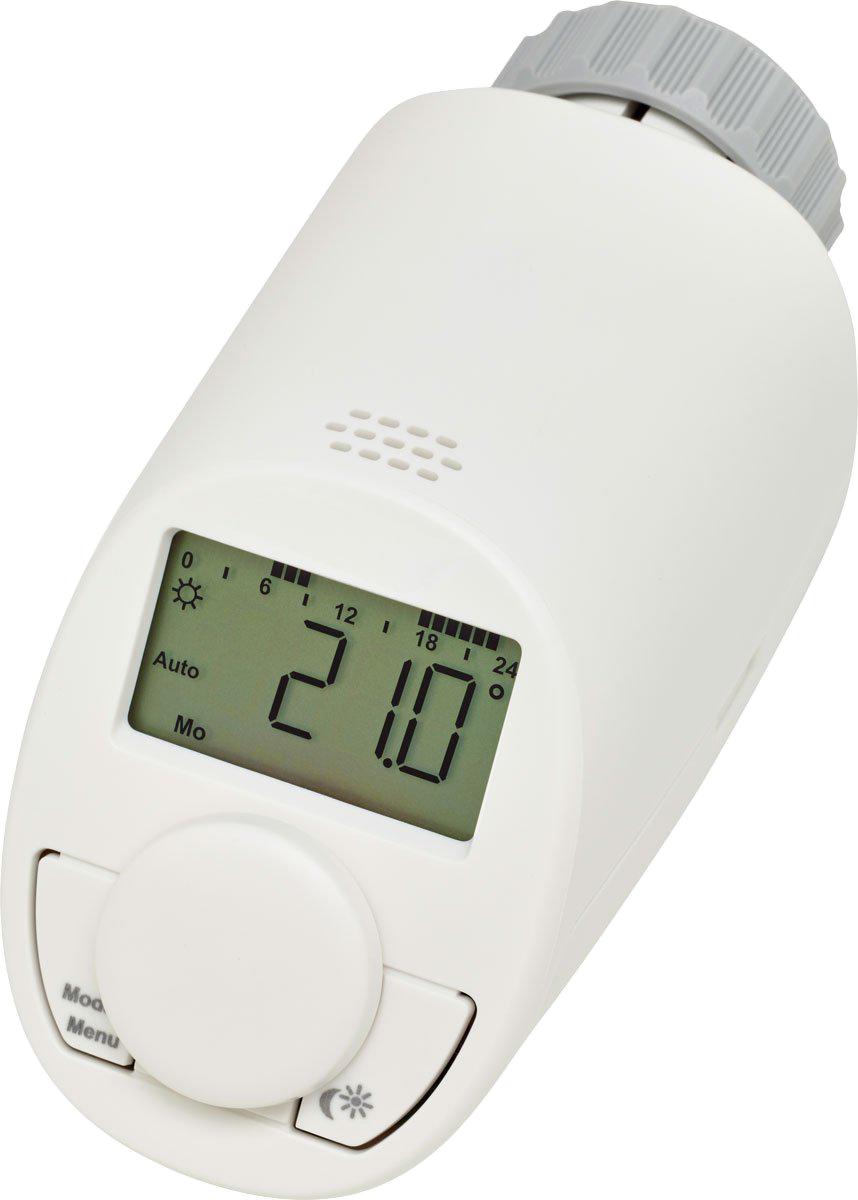 weißer Eqiva Heizkörperthermostat mit digitaler Anzeige