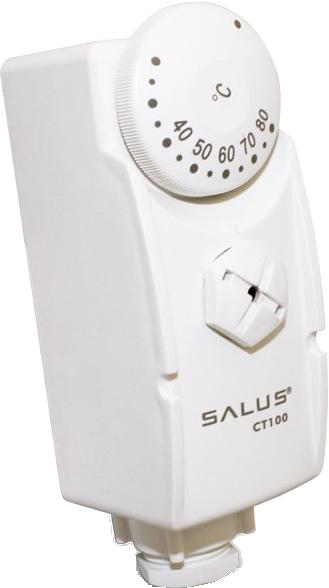 Das Anlegethermostat Salus CT100 in weiß