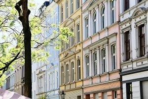 Altbausanierung einer Fassade in der Stadt