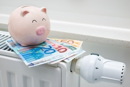 Deutschland macht Plus Sparschwein mit Heizung