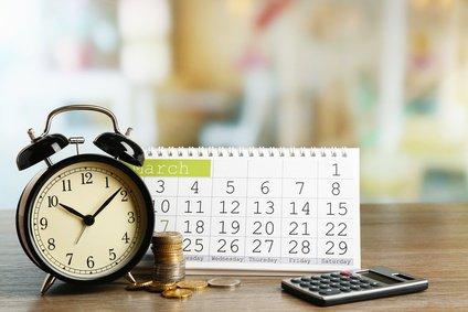 Amortisationszeit Kalender Uhr