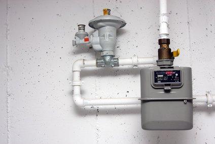Gasinstallation mit Gasuhr