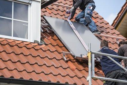 Montage eines Solardach