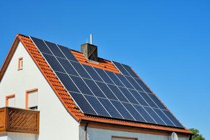 Solardach auf Einfamilienhaus