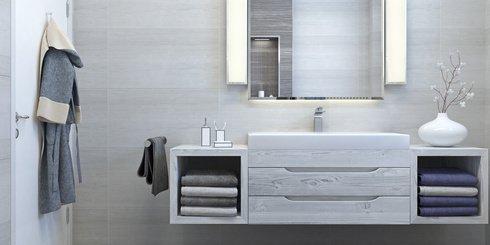 Spiegelheizung im modernen Badezimmer
