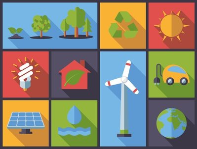 Erneuerbare Energien als Grafik