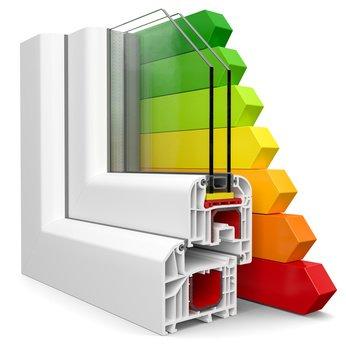 Fenster Dämmung 3D Fensterschnitt Niedrigenergiehaus