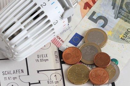 Heizkosten berechnen Thermostat mit Geld