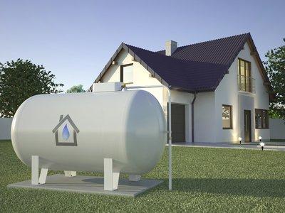 Heizwert Flüssiggas Tank in Hausnähe