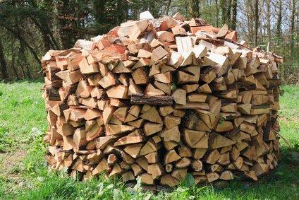 Holzmiete Holz lagern