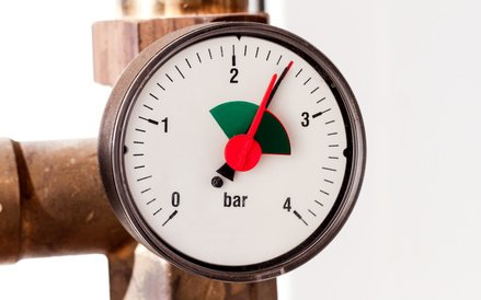 Wasserdruck prüfen