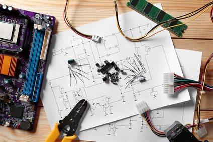 Widerstandsheizung elektronische Element in der Ansicht