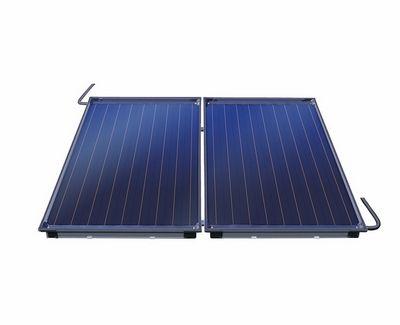 Photovoltaik oder Solarthermie Kollektoren in der Ansicht