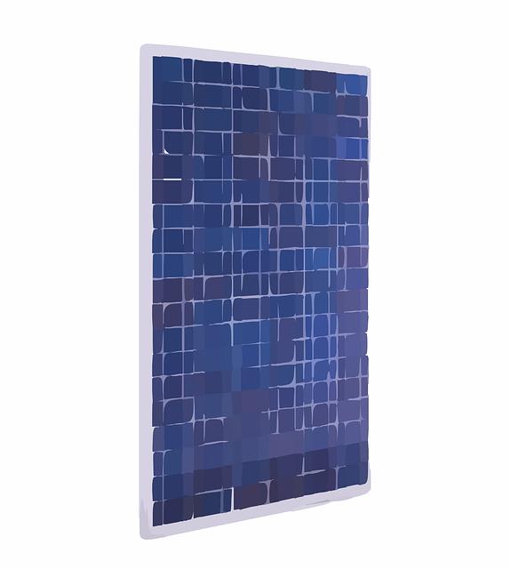 Solarmodul in der Ansicht