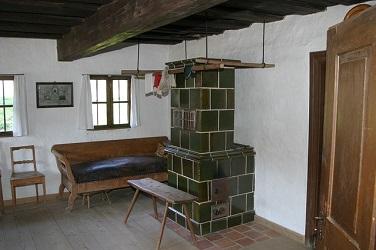 Feuerstelle mit Kchelofeneinsatz