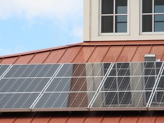 Solarpanel für die Warmwasserbereitung